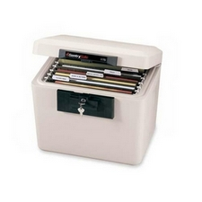 Fireproof, portable safe for important family documents